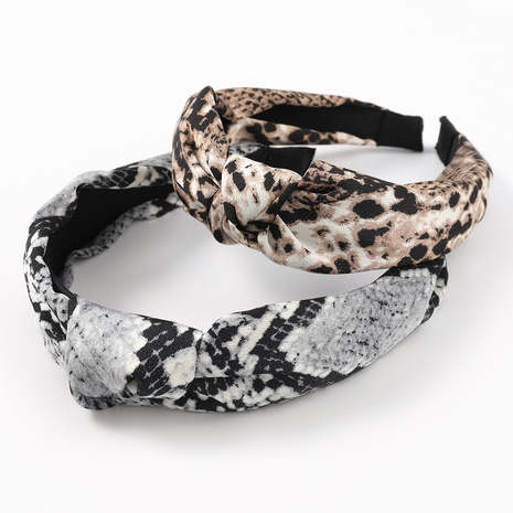 fashion sexy snakeskin print printing hairband NHJE323994's discount tags