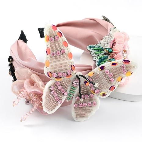 nueva diadema de flores de lentejuelas de mariposa de franela de moda NHJE323996's discount tags