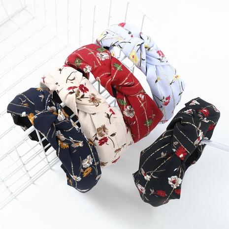 Moda nueva diadema de teñido con estampado floral NHJE323998's discount tags