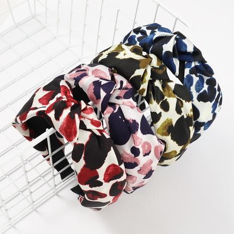 banda de pelo de impresión de patrón de moda NHJE324000's discount tags