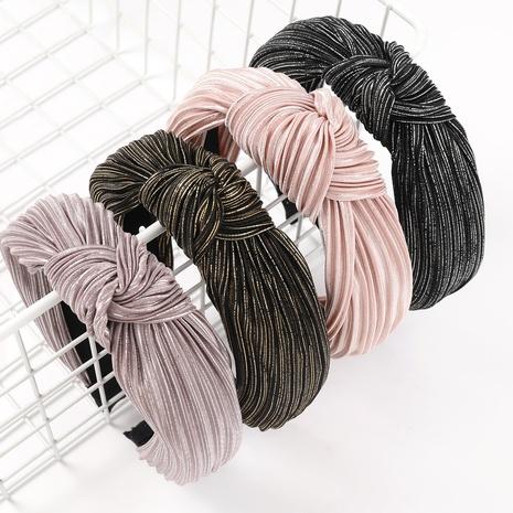 bandas de moda doblar banda para el cabello de oro NHJE324001's discount tags