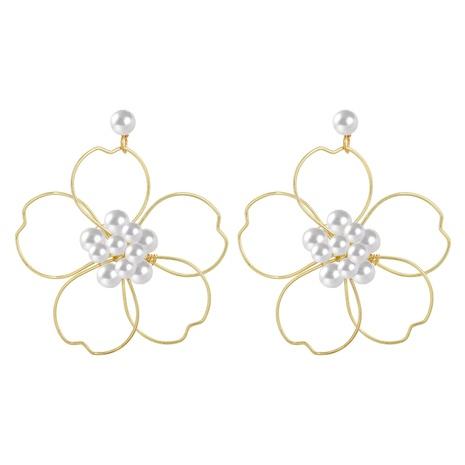 Korean Hand-woven flower pearl earrings  NHJQ324016's discount tags