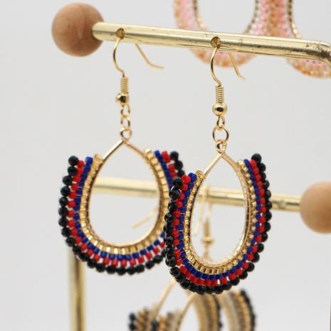 bohemian geometric Miyuki beads earrings  NHGW324051's discount tags