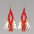 bohemian Miyuki beads tassel earrings  NHGW324069
