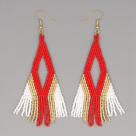 boucles d'oreilles pompon perles Miyuki bohème NHGW324069's discount tags