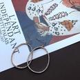 NHOM1494864-Oval-Diamond-Hollow-Rose-Gold-Earrings-5cm