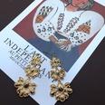 NHOM1494871-Gold-long-flower-drop-earrings-8cm
