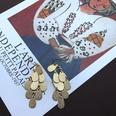NHOM1494873-Golden-frosted-earrings-5.8cm