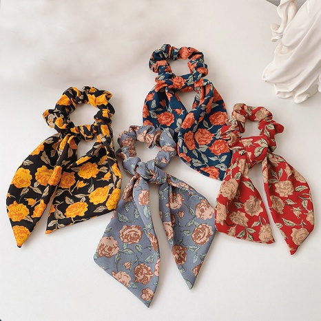 Scrunchies florales retro coreanos para el cabello NHDQ324115's discount tags
