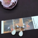 fashion dropshaped colored resin pendant earrings NHOM324145