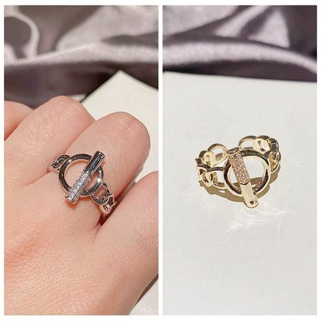 fashion metal zircon micro-inlaid geometric open ring NHCG324181's discount tags