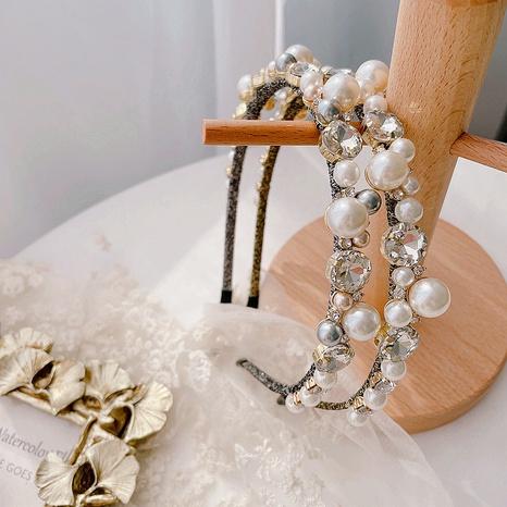 nueva diadema de diamantes de perlas retro coreano NHHI324197's discount tags