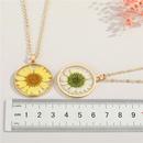 collier en rsine rtro simple pendentif marguerite NHGO324223