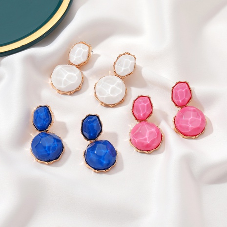 Korean round resin geometric earrings NHDP324211's discount tags