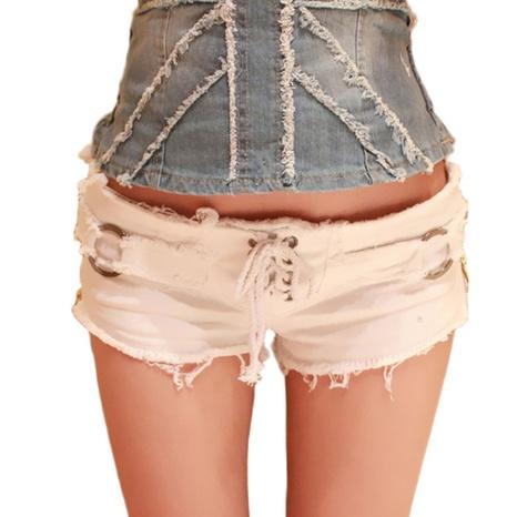 Sommermode sexy flache, zerrissene Jeansshorts NHWA324635's discount tags