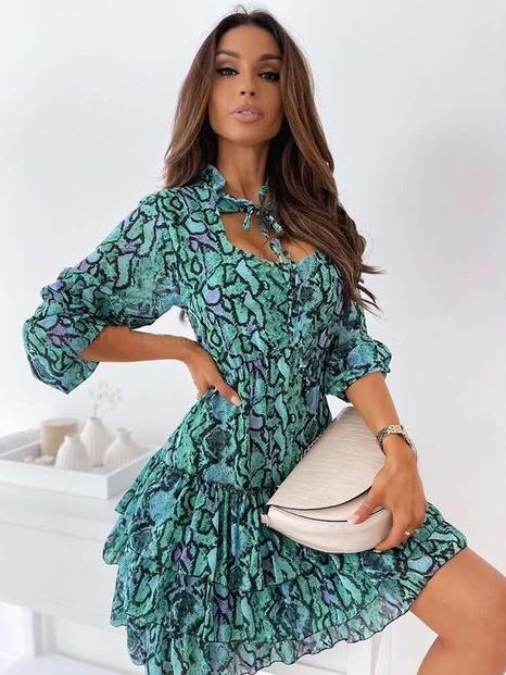 Summer new fashion printed chiffon sexy dress NHWA324641's discount tags