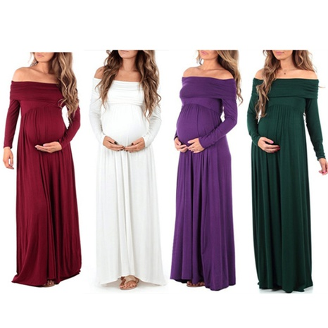 Summer women's off-shoulder high waist loose sexy maternity dress NHWA324659's discount tags