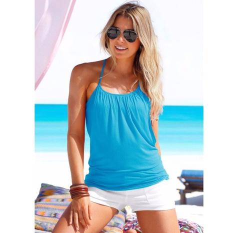 Sommer sexy trägerlose Träger lässige schlanke Strandweste NHWA324653's discount tags