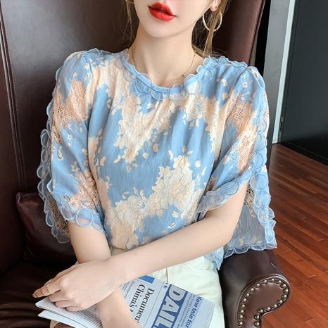 nueva blusa de encaje de moda NHZN324268's discount tags