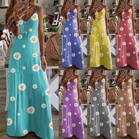 Mode Slim-Fit Gänseblümchen Hosenträger Kleid NHKO324261's discount tags