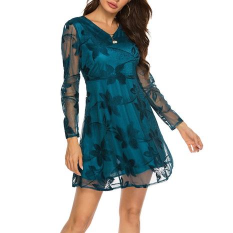 Sommer neues Modestil V-Ausschnitt Spitzenkleid NHJG324247's discount tags
