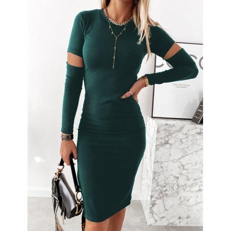 New round fashion dew dress NHJG324246's discount tags