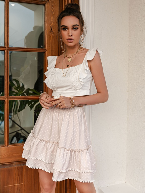 Fashion light apricot skirt for women NHDE324249's discount tags