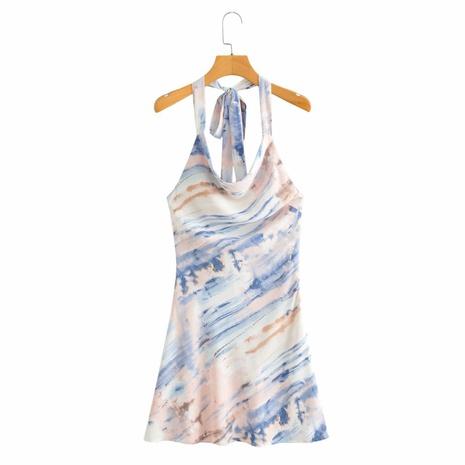 vestido estampado sin espalda de moda NHAM324375's discount tags