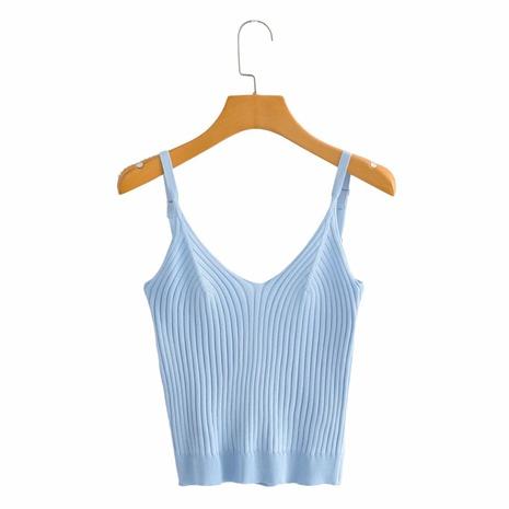 Al por mayor camisa de fondo sin mangas simple NHAM324382's discount tags