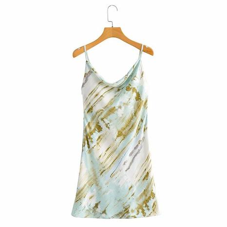 vestido de tirantes con estampado de teñido anudado a la moda NHAM324391's discount tags