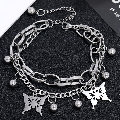 Korean simple butterfly pendant bracelet NHSC324672's discount tags