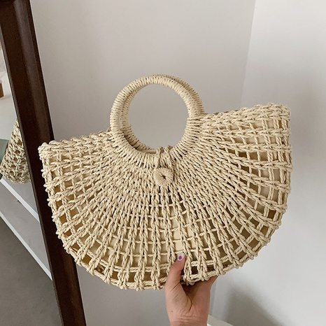 New retro straw woven bag NHJZ324489's discount tags
