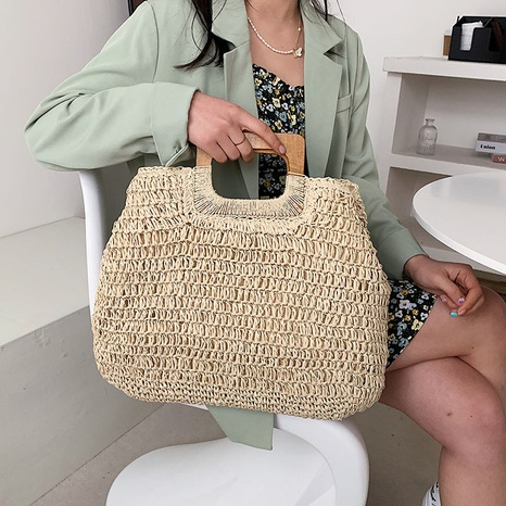 New retro hand-woven straw bag NHJZ324493's discount tags
