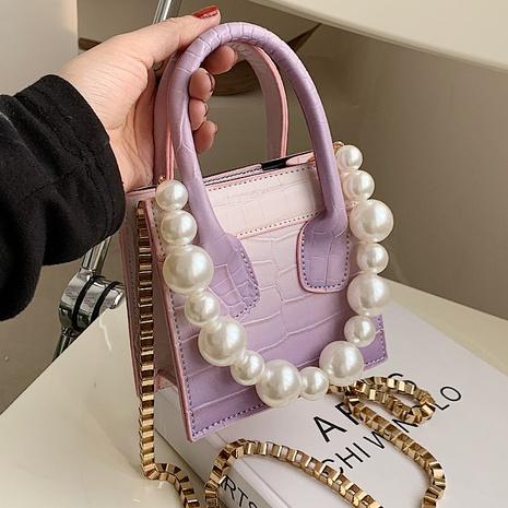 nuevo bolso cuadrado de perlas de mensajero de moda NHLH324529's discount tags