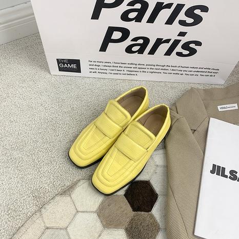 nuevos zapatos cuadrados de cuero británicos NHHU324542's discount tags