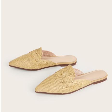 zapatos tejidos de paja de fondo plano de nueva moda NHHU324546's discount tags
