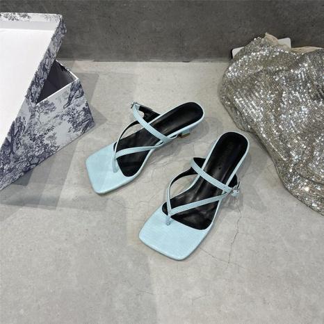 Korean fashion stiletto buckle sandals NHHU324621's discount tags
