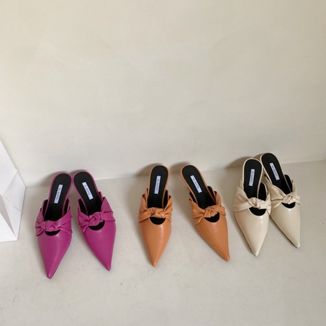 Korean fashion low heel stiletto sandals NHHU324622's discount tags