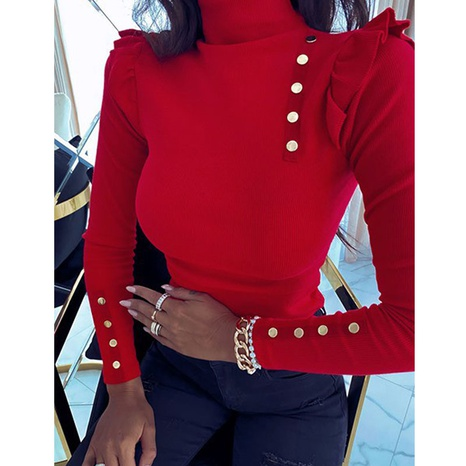 new fashion long-sleeved knitted top NHJG324711's discount tags