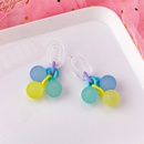 Korean candy color frosted bubble ball earrings NHMS324703