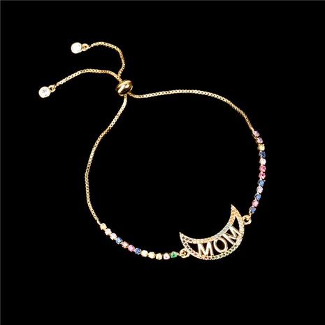 fashion moon diamond letter bracelet NHPY324820's discount tags