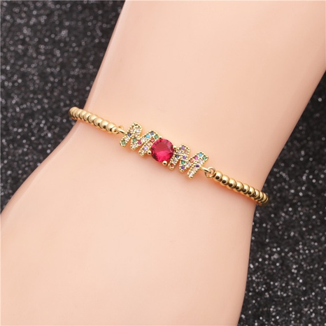 micro-inlaid zircon beads color zirconium chain bracelet NHYL324840's discount tags