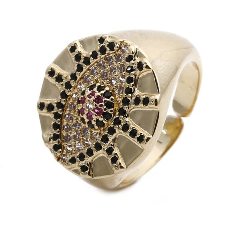 Retro Augenmuster Ring NHYL324842's discount tags