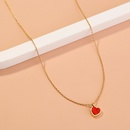 fashion simple turquoise pendant necklace NHAN324854