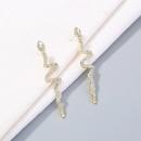 fashion snakeshaped long tassel stud earrings  NHAN324855