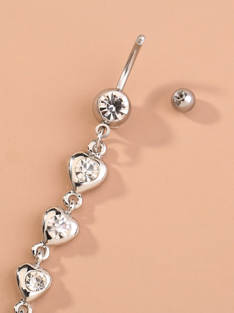 Mode Körper Piercing lange Quaste Herz Diamant Nabel Nagel NHAN324859's discount tags