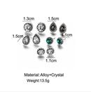 new fashion simple water drop earrings fivepiece set NHYI324872