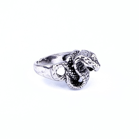 anillo abierto con forma de serpiente retro NHGO324888's discount tags