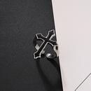 retro black big cross ring  NHGO324894