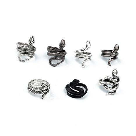 anillo retro punk con forma de serpiente NHGO324902's discount tags